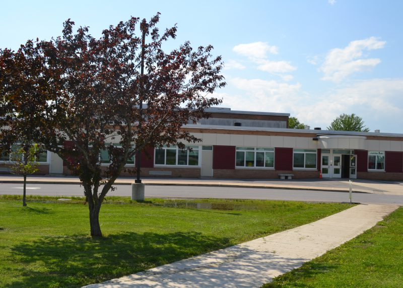 The front exterior of Craig Elementary School, facing the main entrance