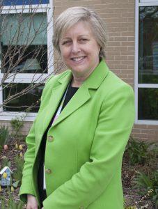 Photo of Glencliff Principal Dr. Shelley Baldwin-Nye outside of Glencliff School