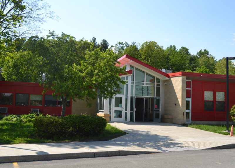 The exterior of Rosendale Elementary School, facing the front entrance