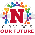 """Logo that says """"Our Schools Our Future"""""""