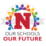 "Icon with the words ""Our Schools, Our Future"" and the Niskayuna ""N"" logo"