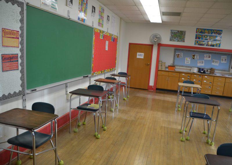 Existing classroom at Van Antwerp