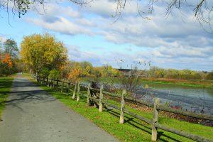Walking/biking trail along the Mohawk River in Niskayuna